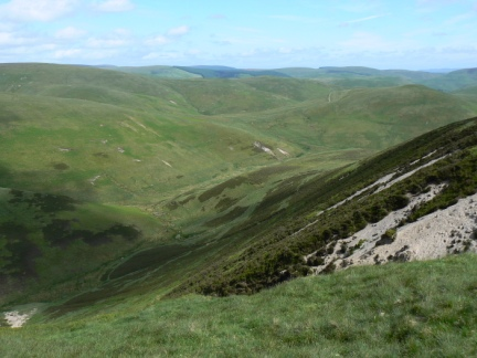 Looking down into Carlcroft Burn from Beef Stand