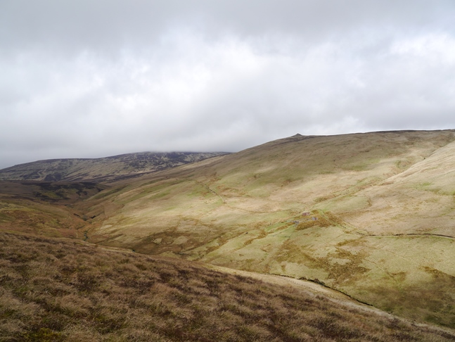 Coldlaw Cairn and the head of the Breamish valley