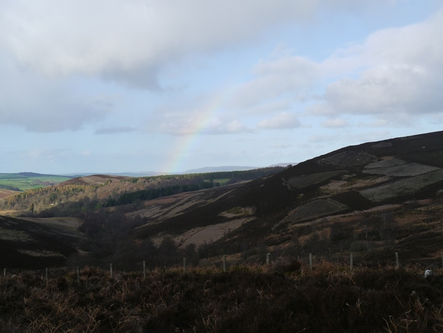 A faint rainbow above Darden Burn