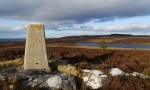 The trig point on Darden Pike