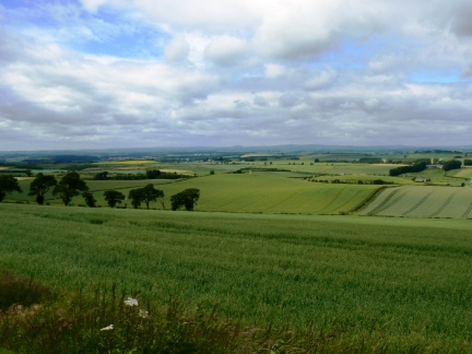 Looking down at the battlefield from the Scots position