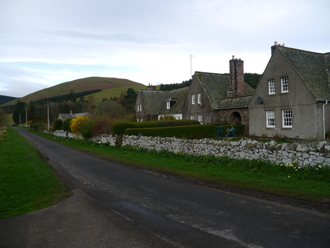 The attractive cottages at Hethpool