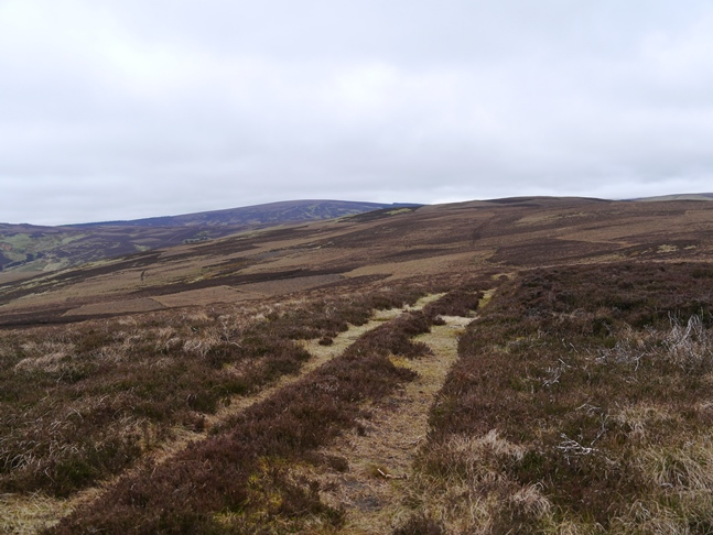The path from Rig Cairn to High Cantle