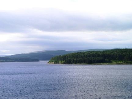 Kielder Reservoir backed by Deadwater Fell and Monkside