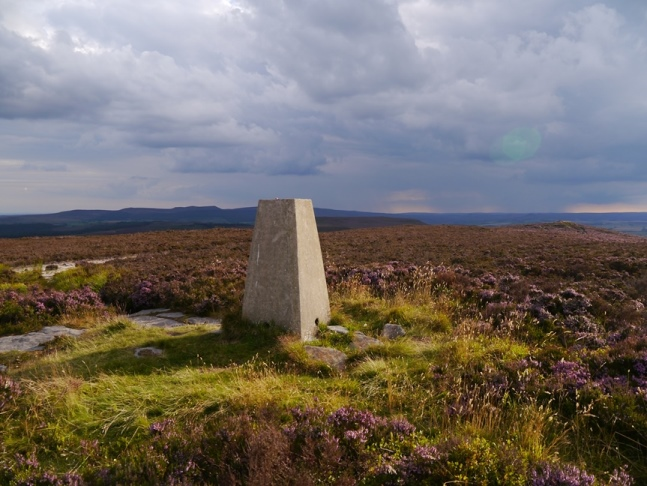 The trig point on Long Crag