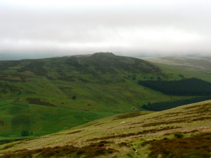 Looking across the Harthope Valley to Long Crags