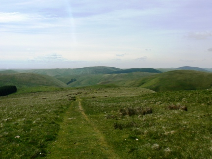 Looking back to the hills above Coquetdale