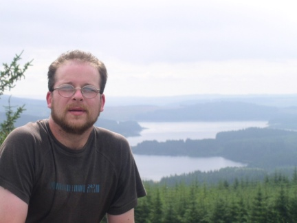 On Cat Cairn with Kielder Water behind me
