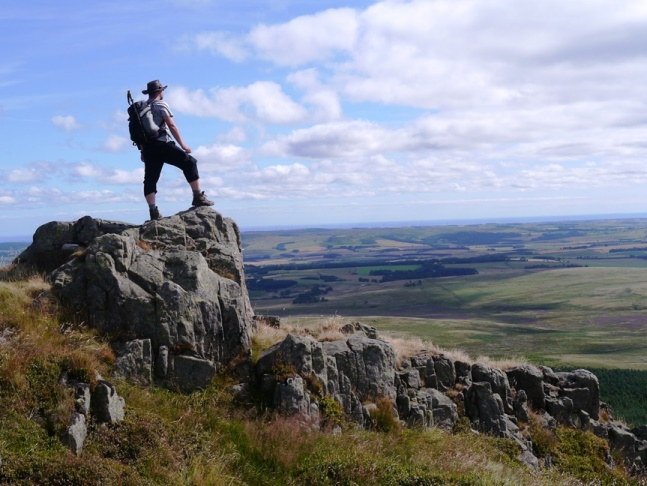 Striking a pose on Cunyan Crags