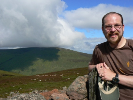 On Hedgehope Hill with The Cheviot behind me