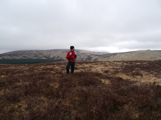 Trying to work out if I've stood on the highest tussock of heather on Lint Lands