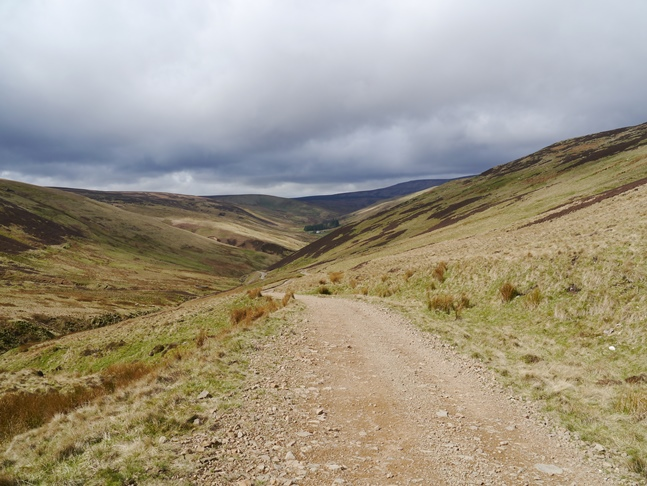Looking back down the Salter's Road
