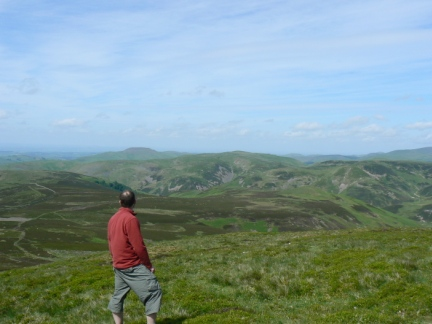 On Callaw Moor looking across to Hownam Law