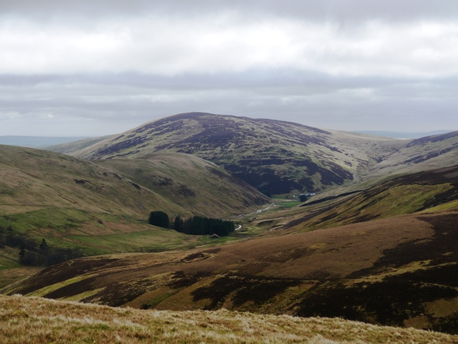 The wonderful view of Shill Moor and the Breamish valley from Broad Shin