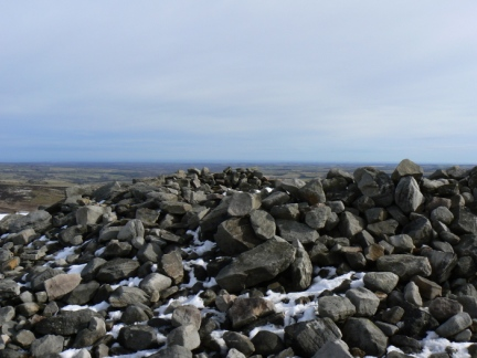 The cairn on The Beacon