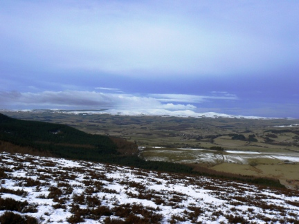 Looking north west to The Cheviot from The Beacon