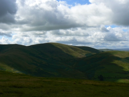 The Curr - one of the highest hills in the Scottish Cheviots