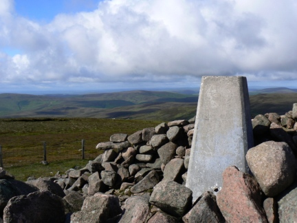 The trig point on Hedgehope Hill