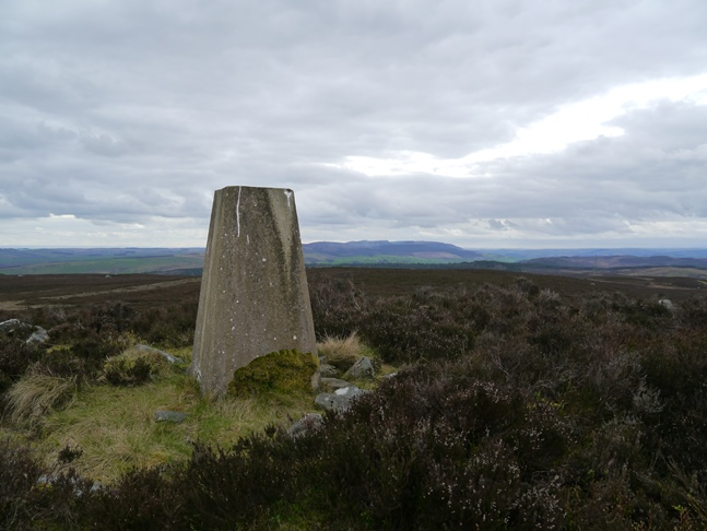 The trig point on Shirlaw Pike