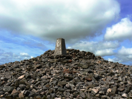 Russell's Cairn on the summit of Windy Gyle