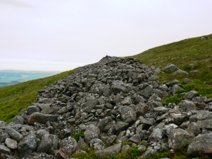 Remains of the northern ramparts on Yeavering Bell