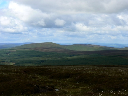 Windy Gyle as seen from Comb Fell to the north east