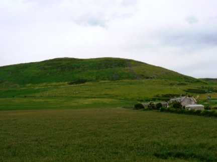 The northern slopes of Yeavering Bell above the hamlet of Old Yeavering