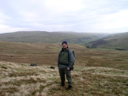 On Yockenthwaite Moor with Wharfedale stretching out behind me