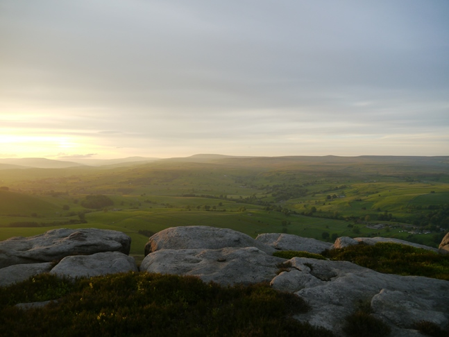 Wharfedale from Air Scar Crags