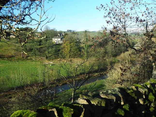 Looking back across the River Aire towards Airton