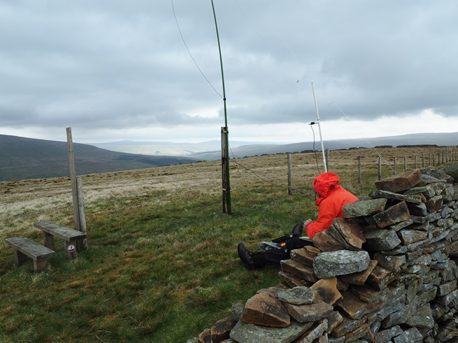 The amateur radio enthusiast ensconced on the top of Rise Hill