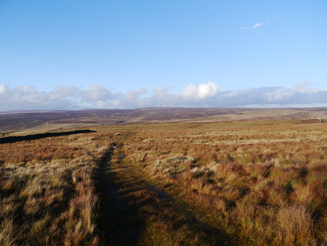 Looking back at the vast sweep of moorland north of Nursery Knot