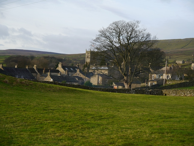 Approaching Askrigg at the end of a wonderful Wensleydale walk