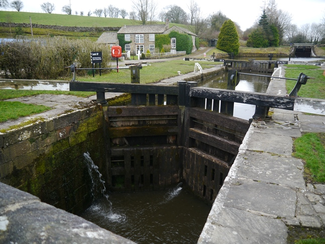 The two lower locks out of the six at Newton Locks