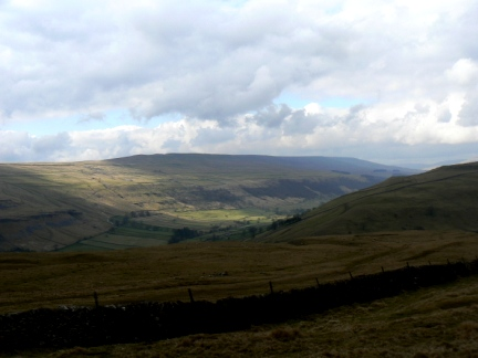 Birks Fell and Wharfedale from Langcliffe