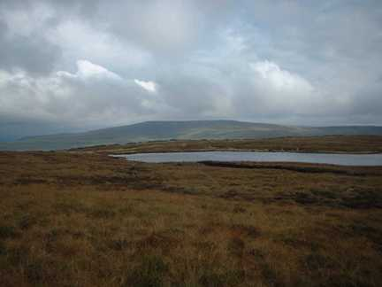 Birks Tarn with Buckden Pike in the distance