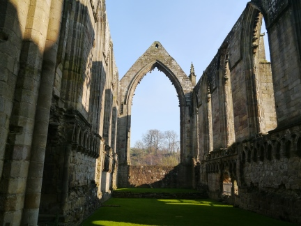 Inside the ruins of Bolton Abbey