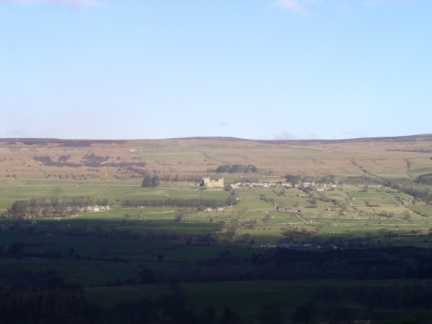 Looking across the valley to Bolton Castle