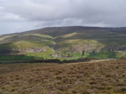 Buckden nestled below the slopes of Buckden Pike