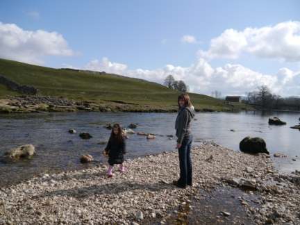 Lisa and Rhiannon by the Wharfe