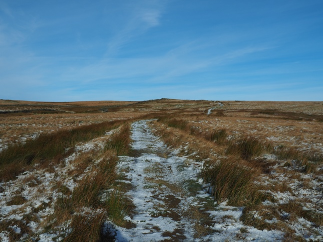 Following the bridleway across Calton Moor towards Weets Top