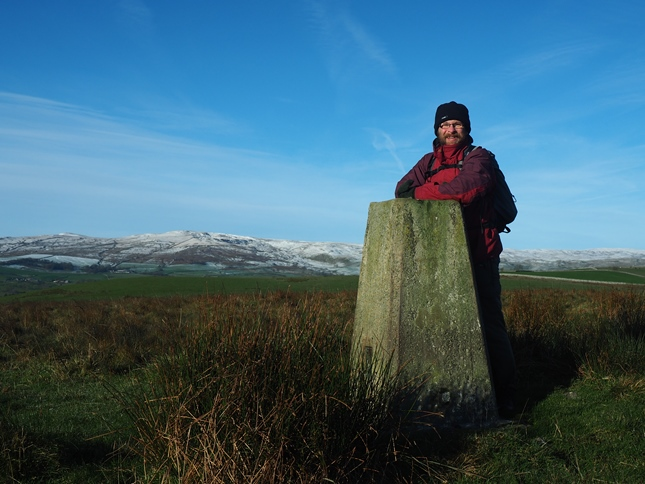 By the Calton trig point