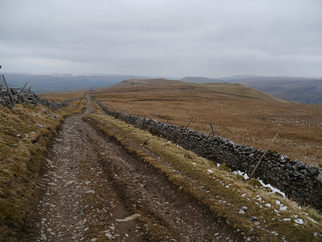 The Cam High Road descending to Green Crag and Carlows