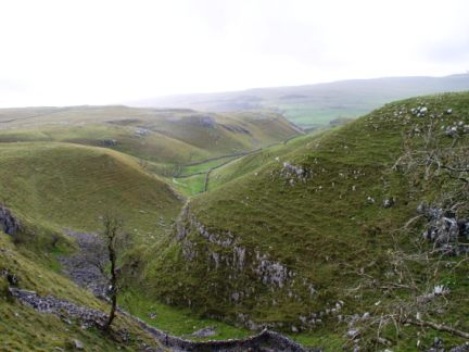 Looking back down into Conistone Dib