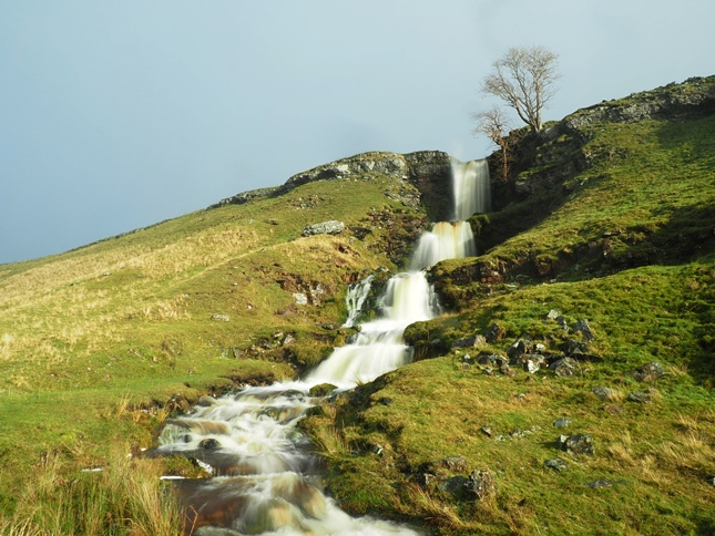 The superb multi-drop waterfall on Cow Close Gill