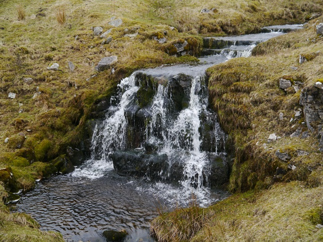 A small waterfall on Cow Stand Gill