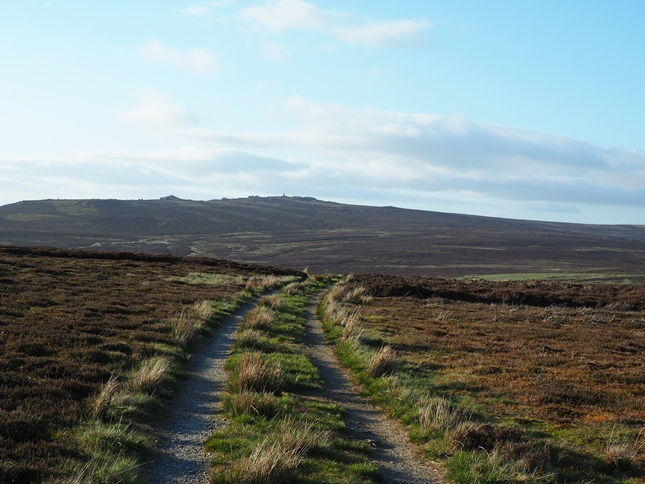 The track leading over East Harts Hill looking towards Cracoe Fell