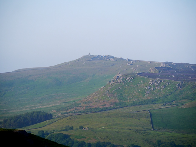 A zoom shot on Rylstone Edge and Cracoe Fell