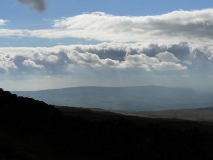 Looking down Wharfedale to Cracoe and Thorpe Fells