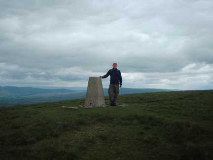 By the trig point on Crag Hill